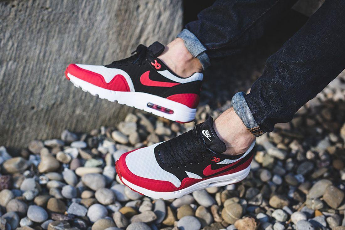 Nike Air Max 1 Ultra Essential Gym Red Black 2