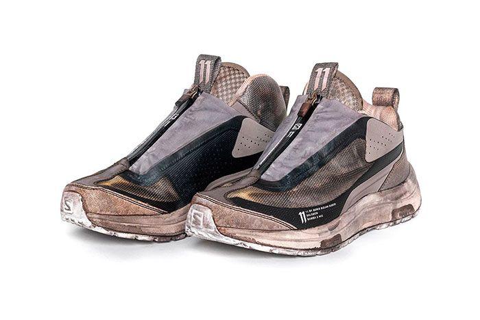 11 By Boris Bidjan Saberi X Salomon Spring Summer 2020 Footwear Brown Black Lateral Thre Quarter Angled Side Shot
