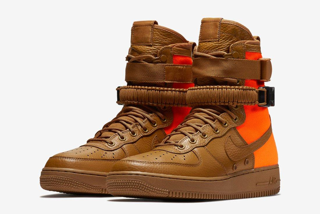 Nike Sf Air Force 1 Desert Ochre Brown Orange 6