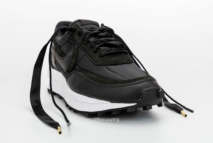 Sacai X Nike Ldwaffle Black Front Toe