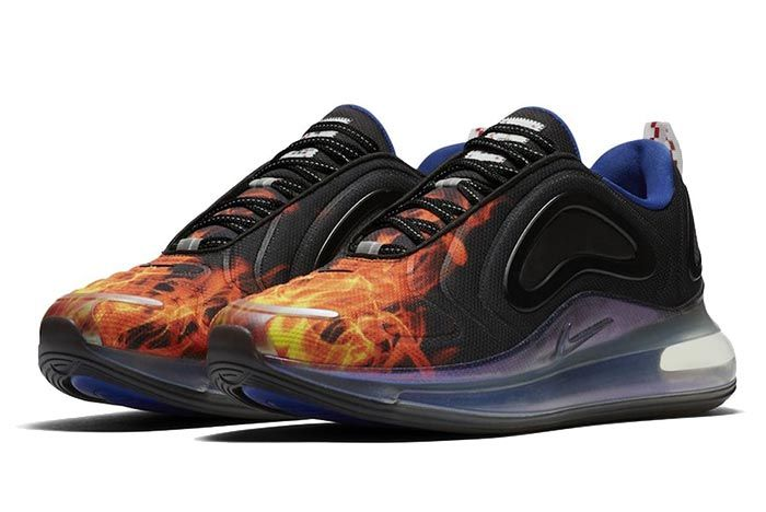 Nike Air Max 720 Fire Flame Three Quarter Lateral Side Shot