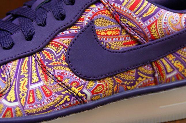 Nike Air Force 1 X Liberty Downtown Purple Detail 1