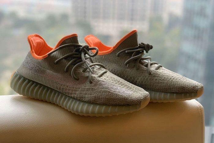 Adidas Yeezy Boost 350 V2 Desert Sage Reflective Pair