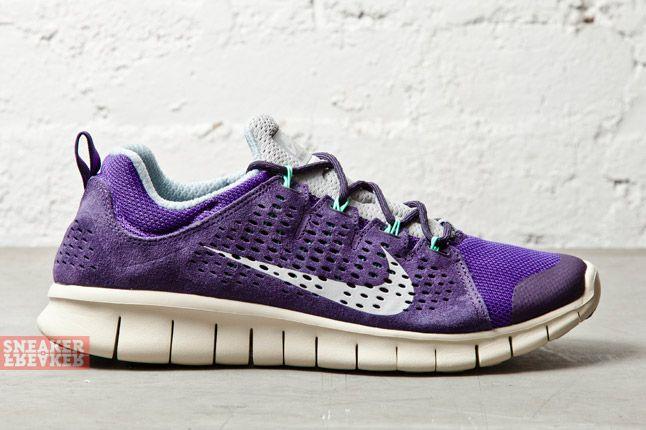 Nike Free Powerlines Ii Ltr Purple Dynasty Geyser Grey 4