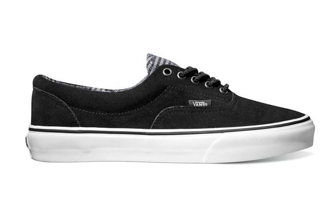 Vans Era Suede Flannel Black Grey Holiday Classics 2012 1