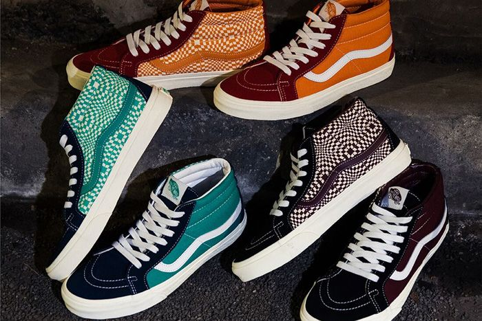Billys Vans Sk8 Mid Warped Check Pack Release Date Hero