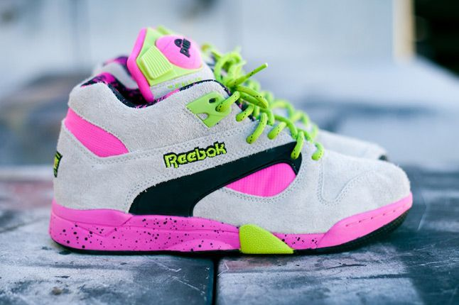 Reebok Omni Lite Pump Grey Feature Sneaker Boutique Side Profile 1