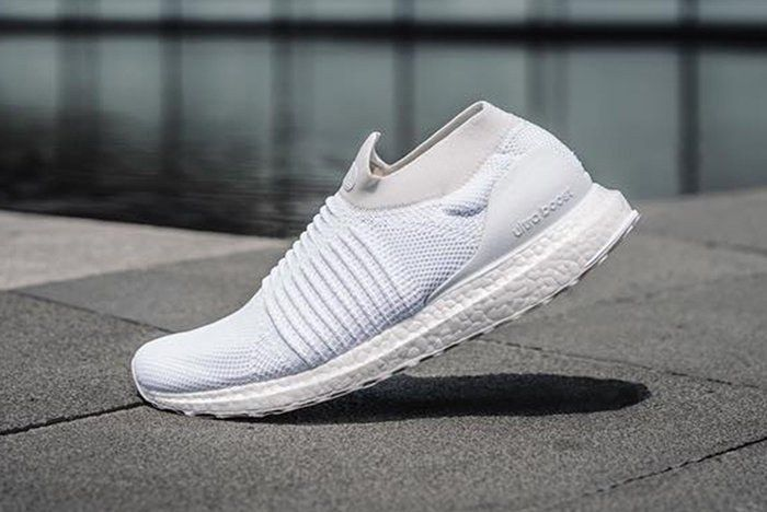 Adidas Ultra Boost Laceless White Beige5