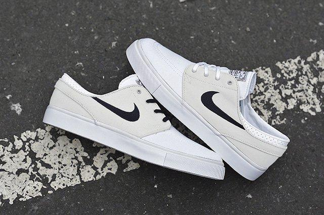 Nike Sb Zoom Stefan Janoski Canvas Grey White 2
