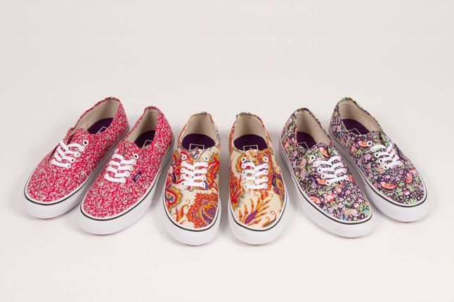 Vans X Liberty Art Fabrics Authentic Collection 1