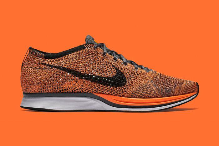 Nike Flyknit Racer Orange 1