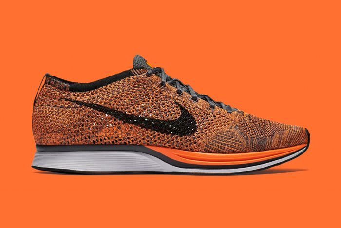 Nike Flyknit Racer Orange 1