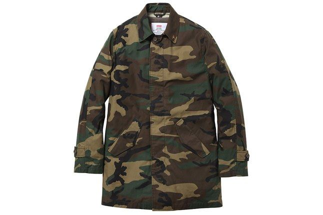 Supreme Camo Trench Jacket 1
