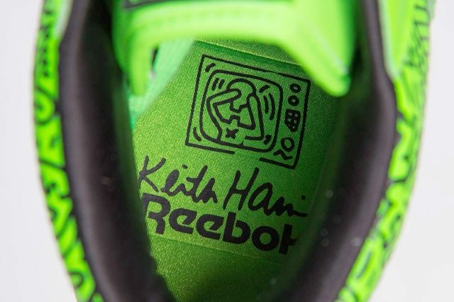 Keith Haring Reebok Classic Workout Mid Strap Neon Green 7