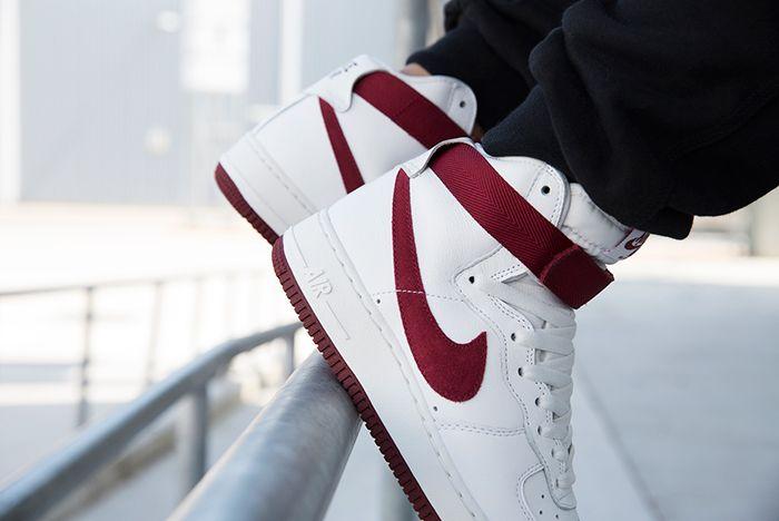 Nike Air Force 1 High Red Burgundy 3