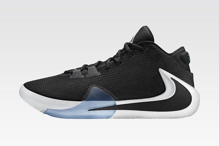 Nike Zoom Freak 1 Giannis Antetokounmpo Black White Release Date Lateral