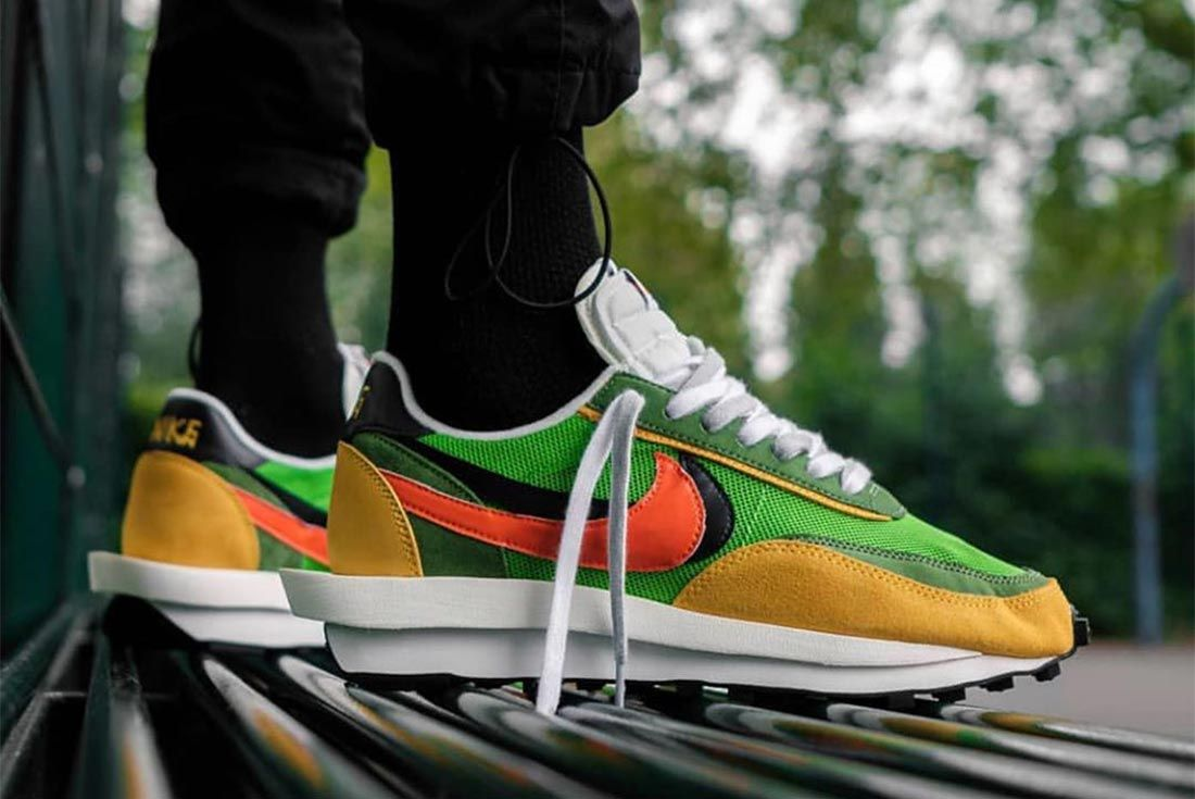 Nike Sacai Ldv Waffle On Foot Lateral Side Shot