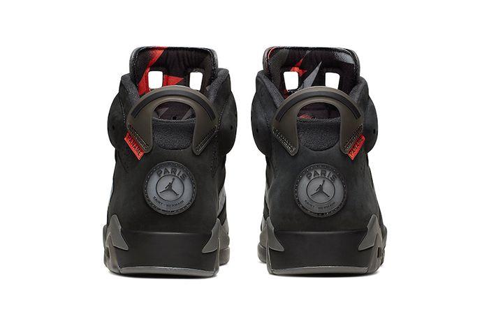 Air Jordan 6 Psg Paris Saint Germain Ck1229 001 Release Date Heel