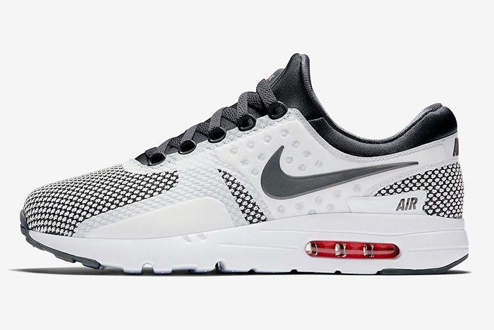 Nike Air Max Zero Dark Grey Summit White Red 1