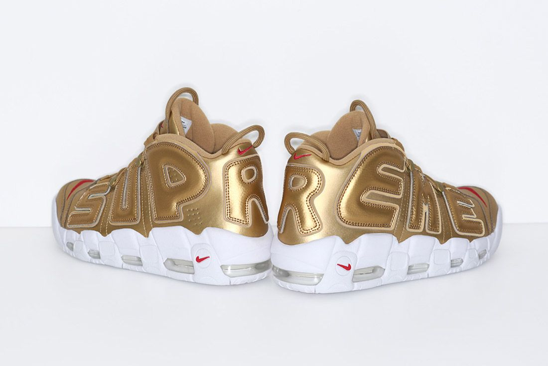 Supreme Nike Air More Uptempo Gold 1