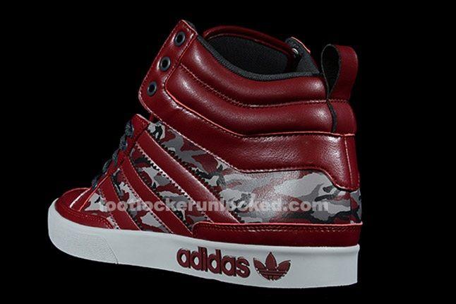 Adidas Top Court Camo Cardinal Heel 1
