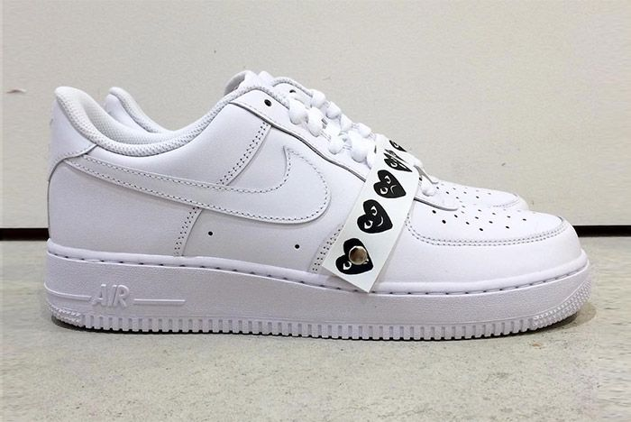Comme Des Garcons Nike Air Force 1 White 1