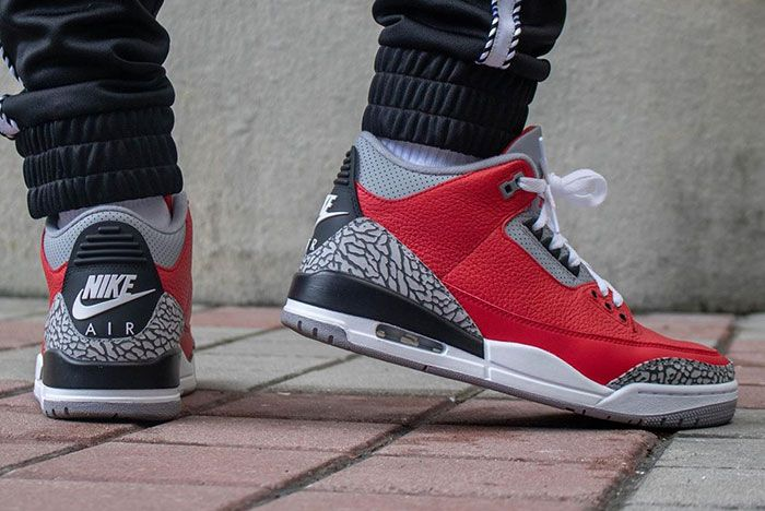 Air Jordan 3 Cement Red Fire Red All Star On Foot9
