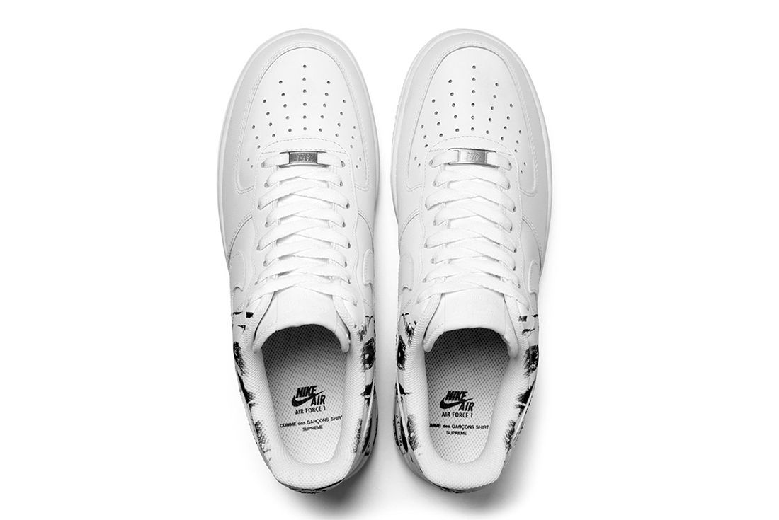 Supreme X Comme Des Garçons Shirt X Nike Air Force 12