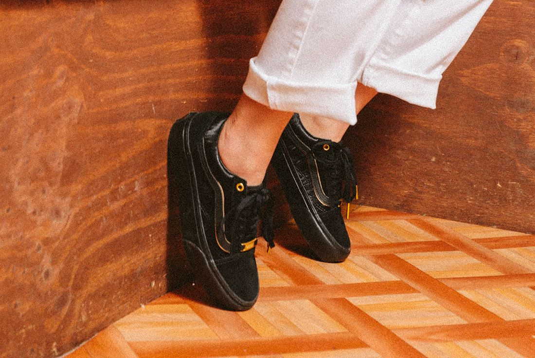 Vans Black Gold Pack 16Jd Sports Exclusive On Foot