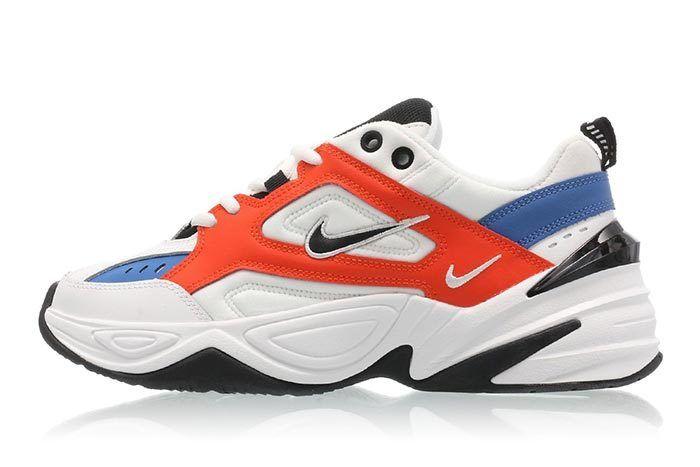 Nike M2K Tekno Summit White Team Orange 1