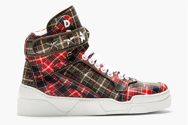 Givenchy Red Calfskin Plaid Tyson High Top 11