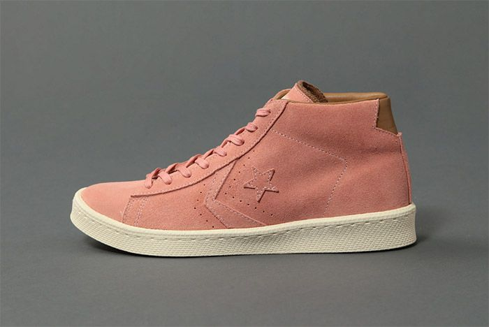 United Arrows Poggy Converse Pro Leather Mid Pink 3