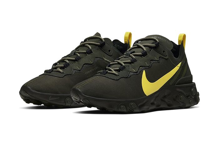 Nike React Element 55 Oregon Fighting Ducks Release Date Pair