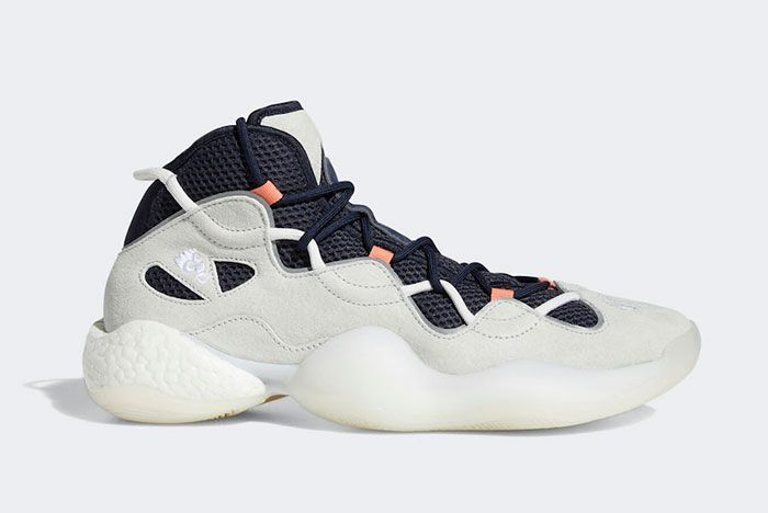 Adidas Crazy Byw 3 Iii White Legend Ink Coral Ee7961 Lateral