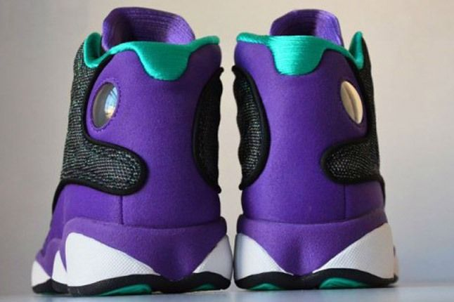 Air Jordan 13 Black Ultraviolet Atomic Teal 7 Heels 1