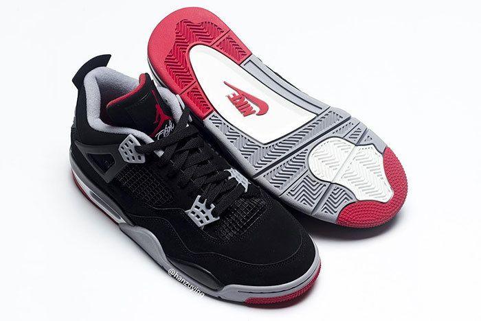 Air Jordan 4 Bred Black Red 2019 308497 060 5