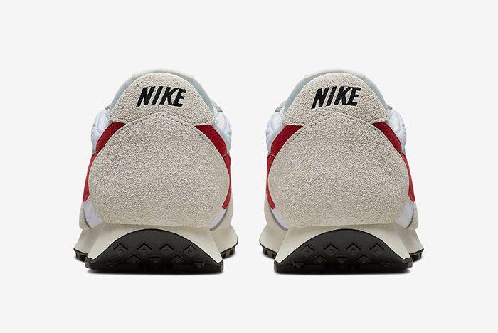 Nike Daybreak White University Red Heel