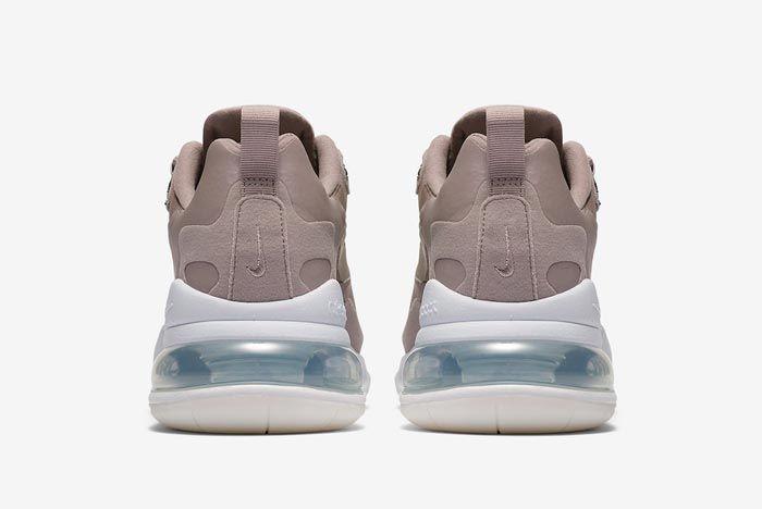 Nike Air Max 270 React Beige White Heels