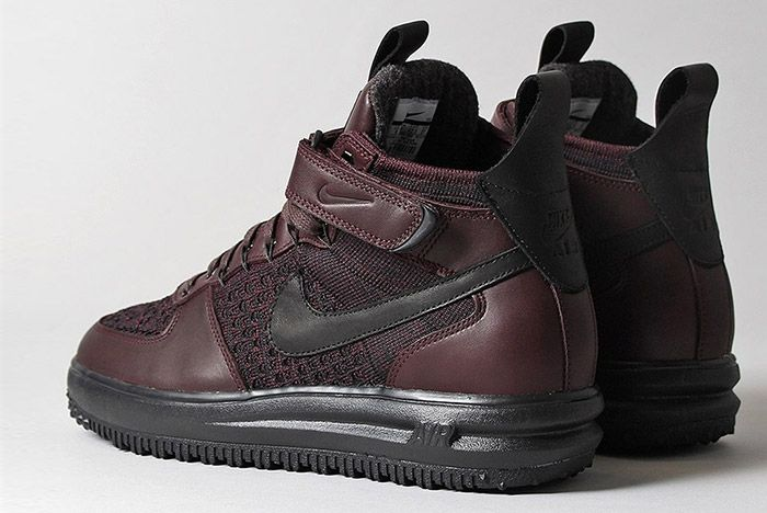 Nike Lunar Force 1 Flyknit Workboot Deep Burgundy 3