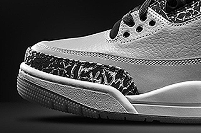 Jordan 3 Wolf Grey Toebox