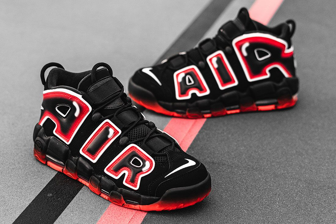 Nike Air More Uptempo 96 Laser Crimson 2