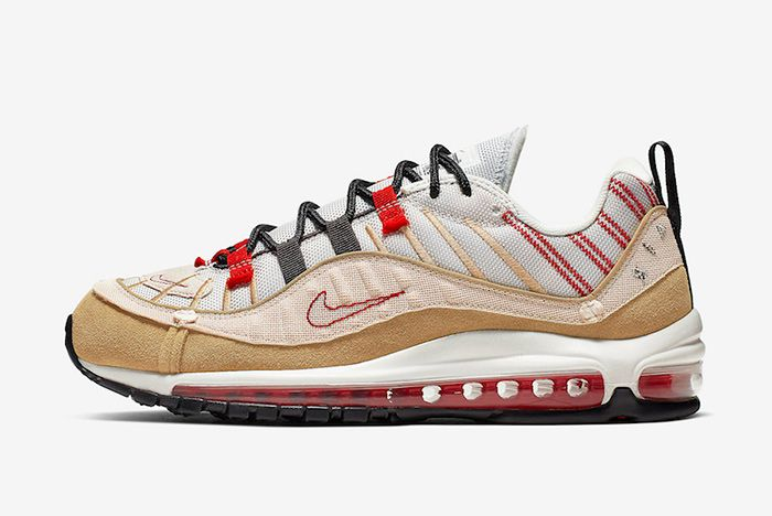 Nike Air Max 98 Inside Out Tan Left