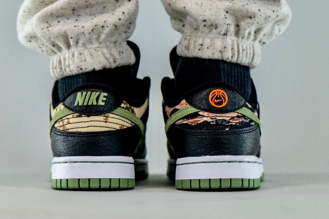 On-Foot: Nike Dunk Low 'Crazy Camo'