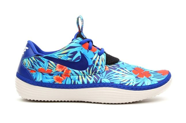 Nike Solarsoft Moccasin Sp Tropical Floral Pack Blue Orange Profile 1