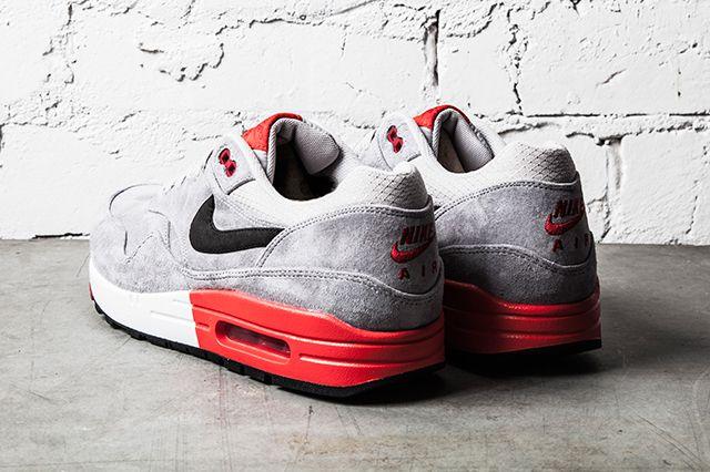Nike Air Max 1 Premium Grey Red 3