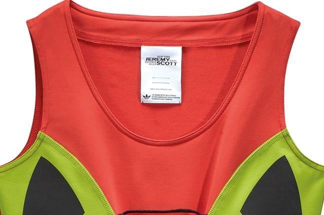 Adidas Jeremy Scott Fringe Logo Dress 3 1