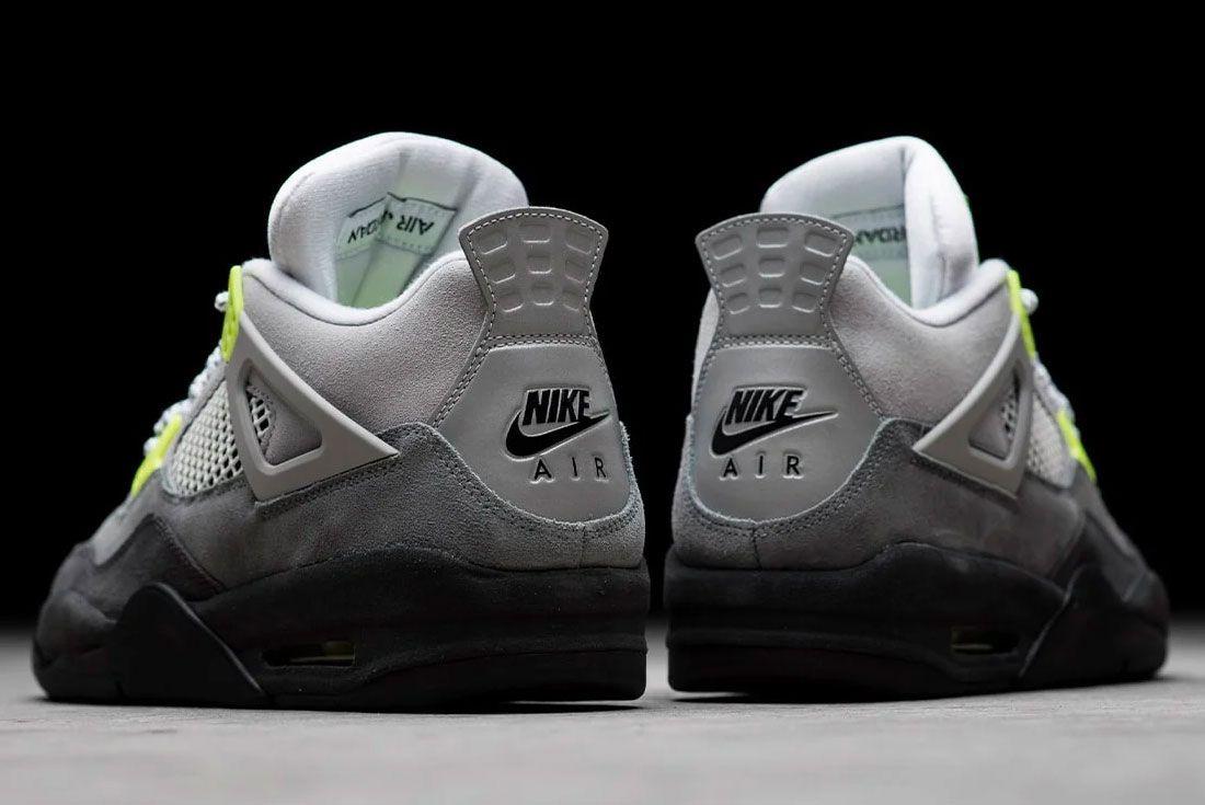 Air Jordan 4 Neon Heel