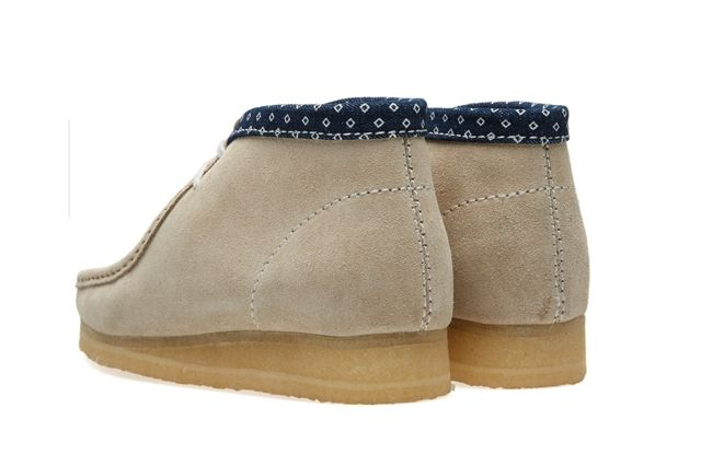 Clarks Wallabee Boot Chalk Combi 4