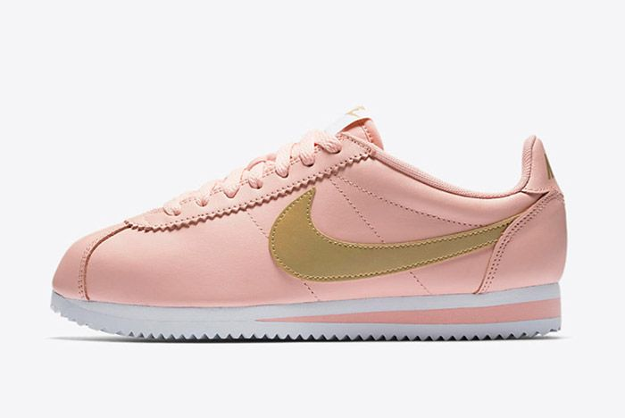 Nike Classic Cortez Pinkarctic Orange Metallic Gold Womens 2