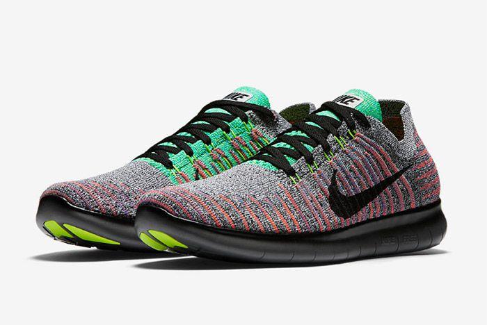 Nike Free Rn Flyknit Grey Multi 1